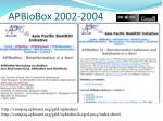apbiobox 2002 2004
