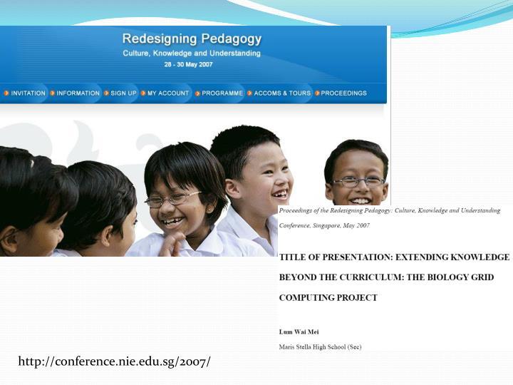 http://conference.nie.edu.sg/2007/