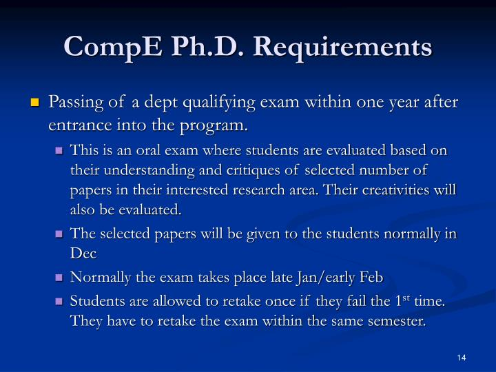 CompE Ph.D. Requirements