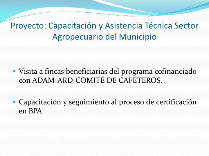 Proyecto: Capacitación y Asistencia Técnica Sector Agropecuario del Municipio