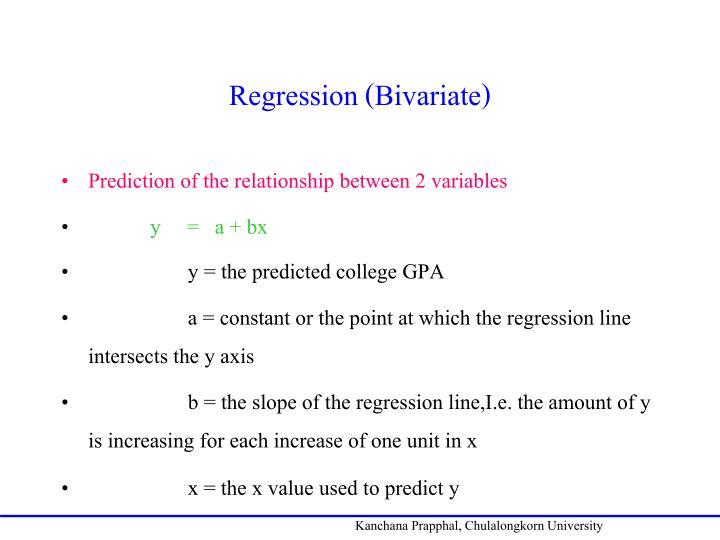 Regression (Bivariate)