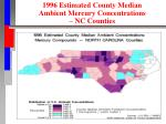 1996 estimated county median ambient mercury concentrations nc counties