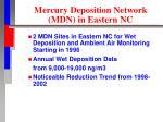 mercury deposition network mdn in eastern nc