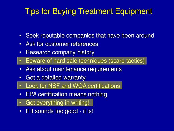 Tips for Buying Treatment Equipment