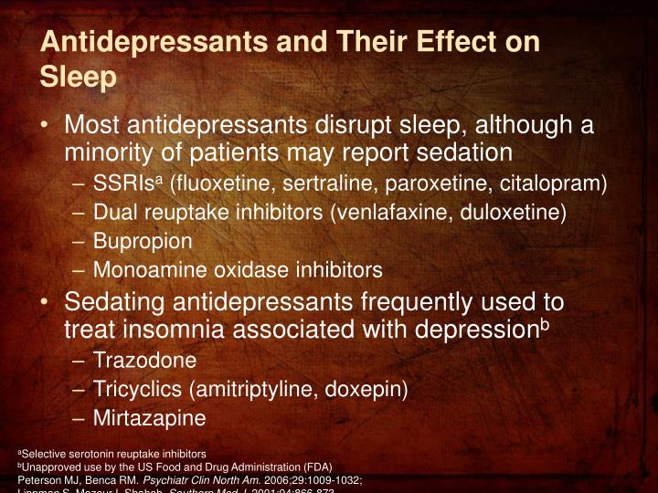 Antidepressants and Their Effect on Sleep