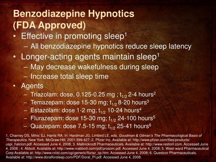 Benzodiazepine Hypnotics
