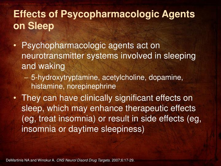 Effects of Psycopharmacologic Agents on Sleep