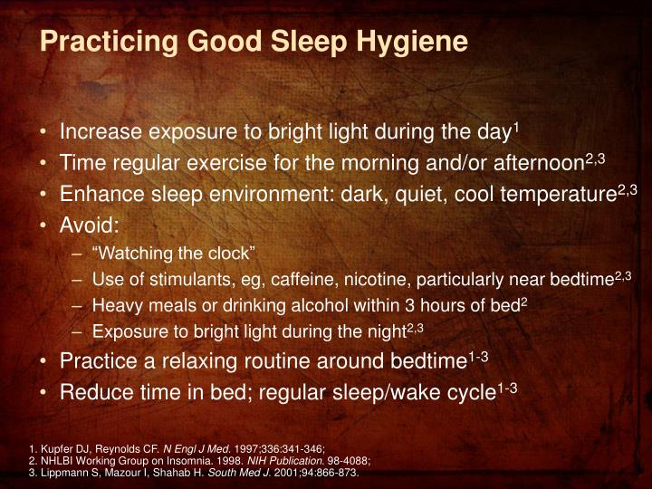 Practicing Good Sleep Hygiene