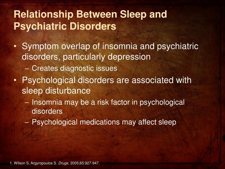 Relationship Between Sleep and Psychiatric Disorders