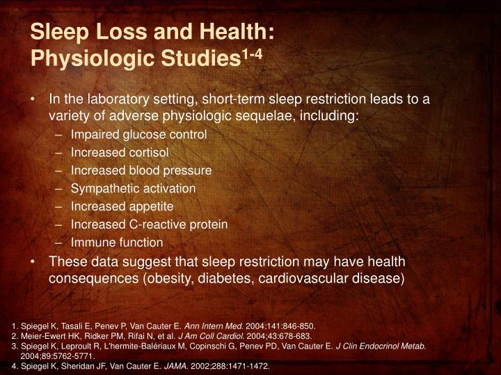 Sleep Loss and Health:
