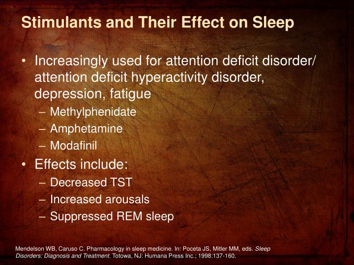 Stimulants and Their Effect on Sleep