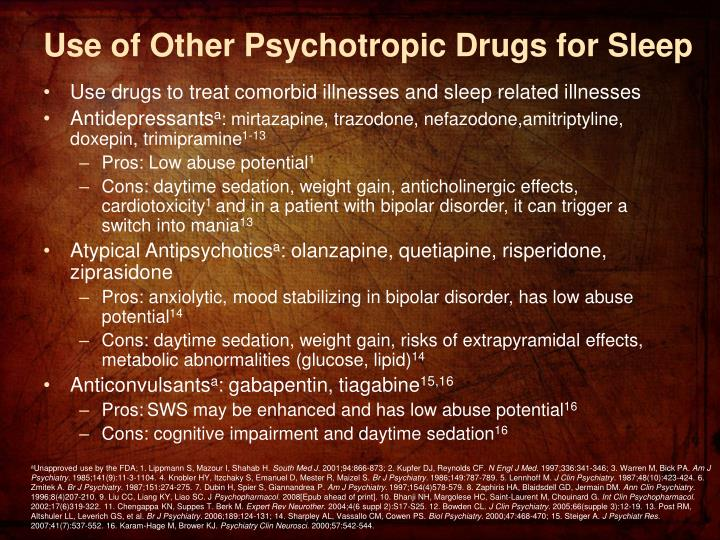 Use of Other Psychotropic Drugs for Sleep