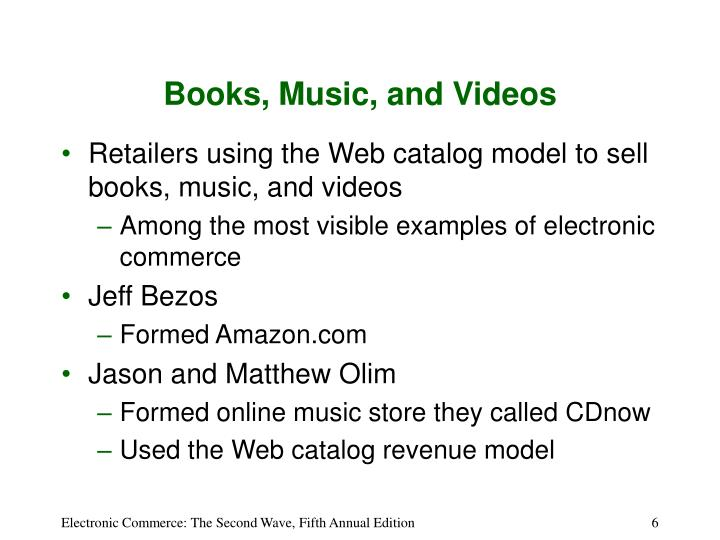 Books, Music, and Videos