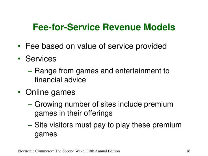 Fee-for-Service Revenue Models