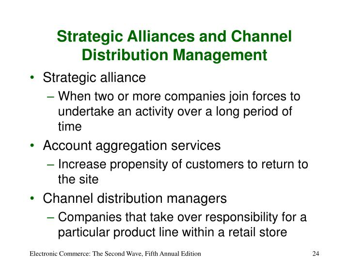 Strategic Alliances and Channel Distribution Management