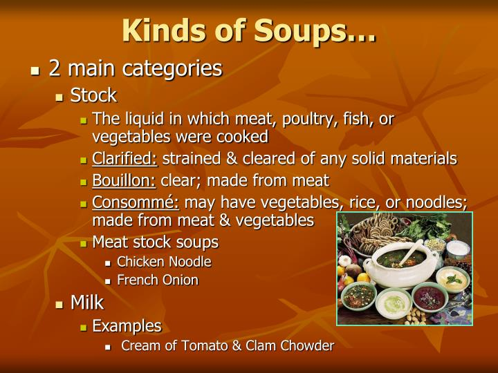 Kinds of Soups…