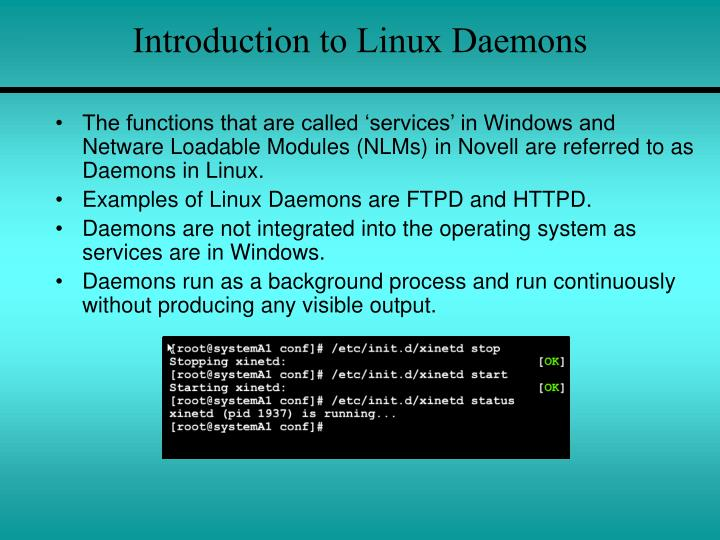 Introduction to Linux Daemons