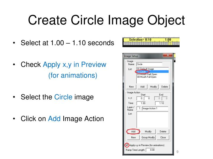 Create Circle Image Object