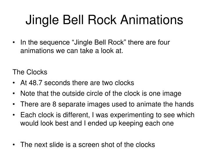 Jingle Bell Rock Animations