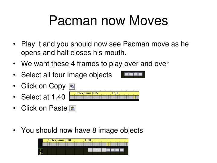 Pacman now Moves