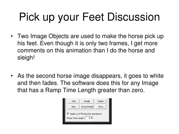 Pick up your Feet Discussion