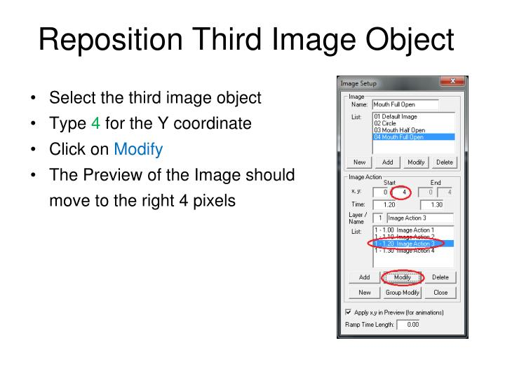 Reposition Third Image Object