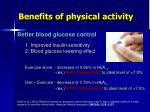 benefits of physical activity1