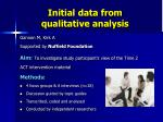 initial data from qualitative analysis