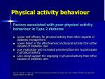 physical activity behaviour1