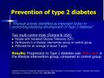 prevention of type 2 diabetes