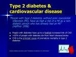 type 2 diabetes cardiovascular disease