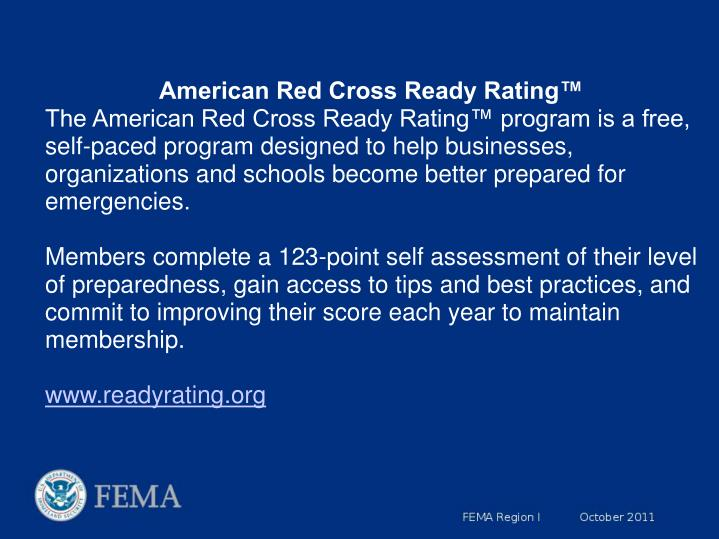 American Red Cross Ready Rating™