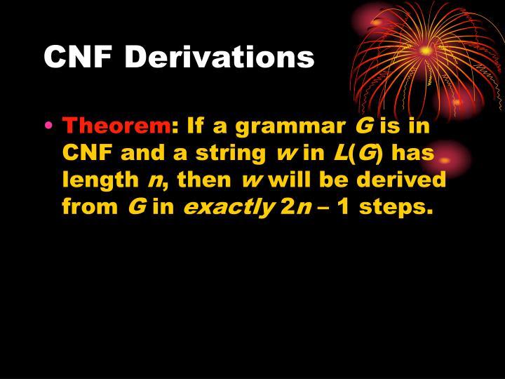 CNF Derivations