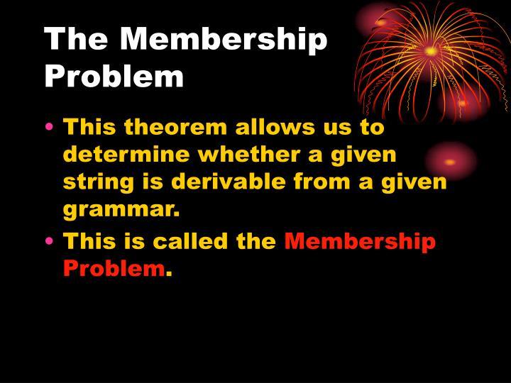 The Membership Problem