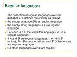 regular languages1
