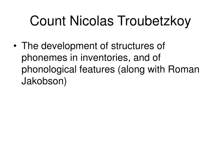 Count Nicolas Troubetzkoy