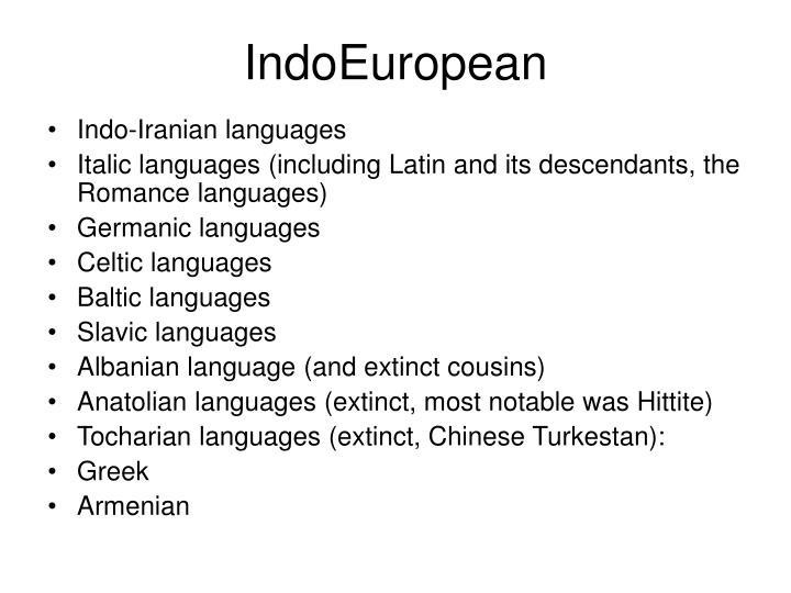 IndoEuropean