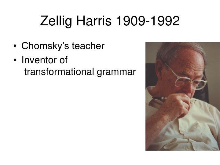 Zellig Harris 1909-1992