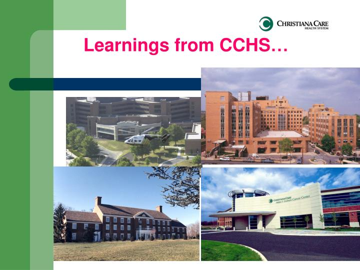 Learnings from CCHS…