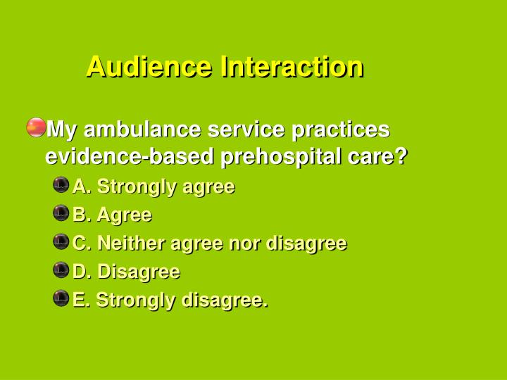 Audience Interaction