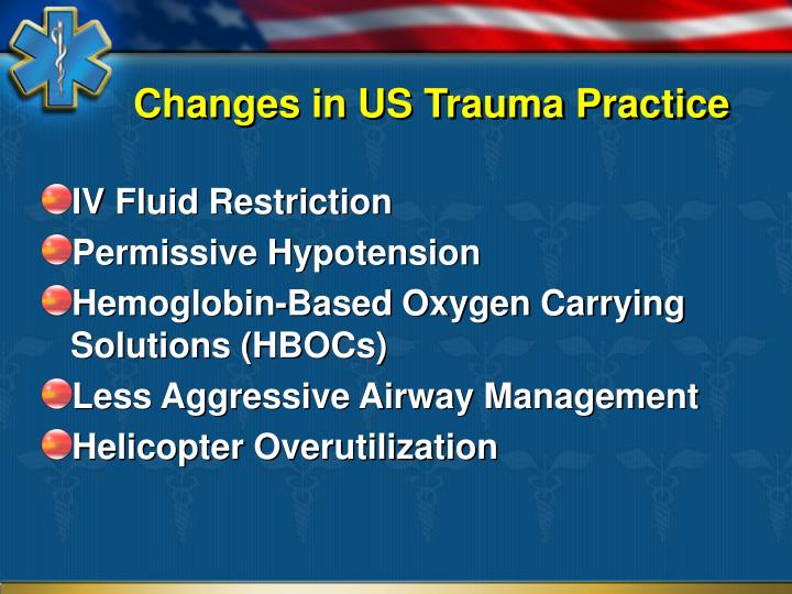 Changes in US Trauma Practice