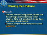 ranking the evidence1