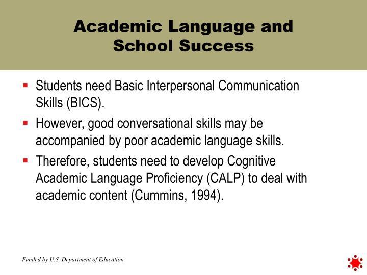 Academic Language and