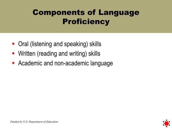 Components of Language Proficiency