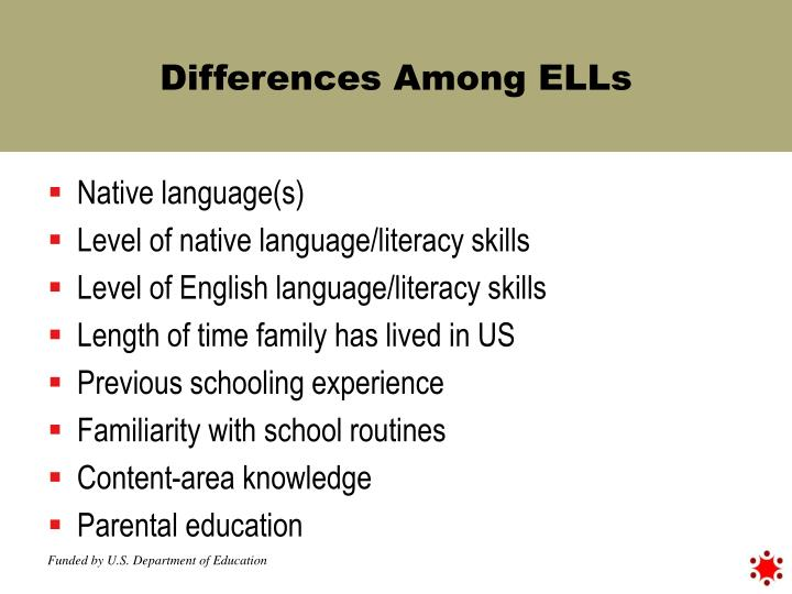 Differences Among ELLs