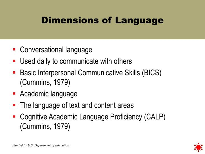 Dimensions of Language