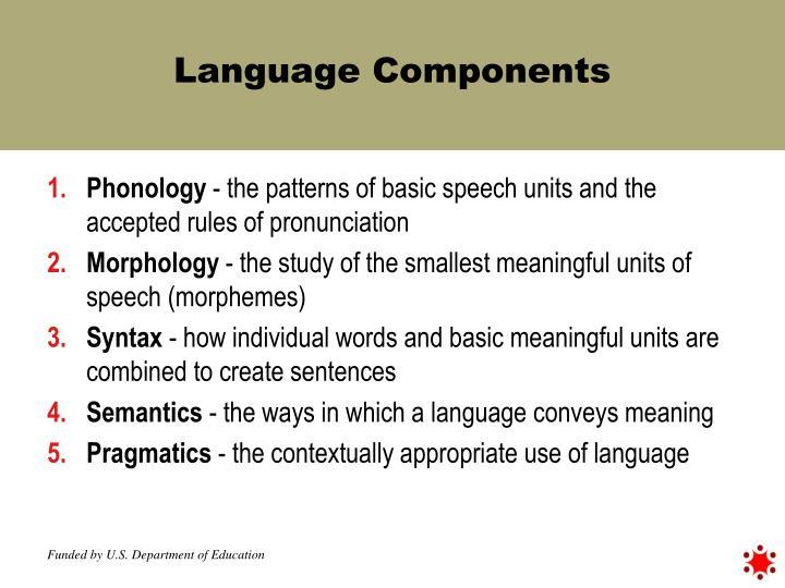 Language Components