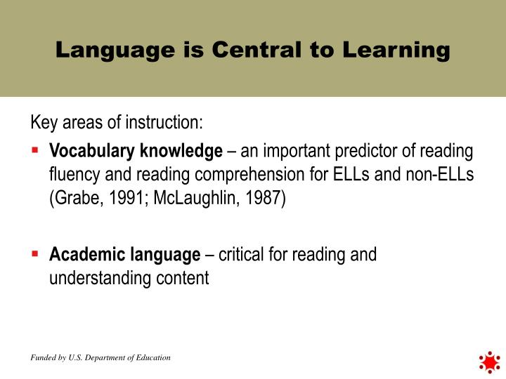 Language is Central to Learning