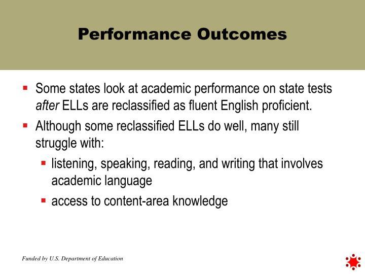 Performance Outcomes
