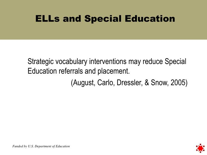 ELLs and Special Education